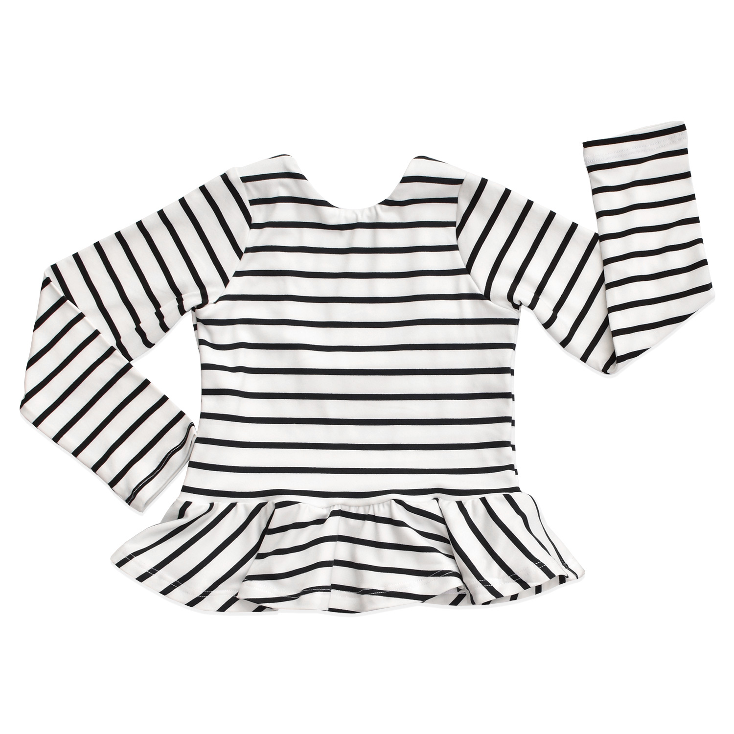 peplum-ivory-black-stripes-LS-front-briabay